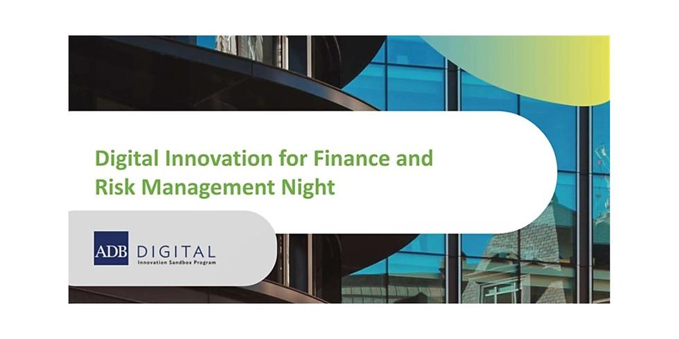 Digital Innovation for Finance and Risk Management Night