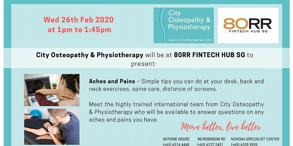 Aches & Pains by City Osteopathy & Physiotherapy
