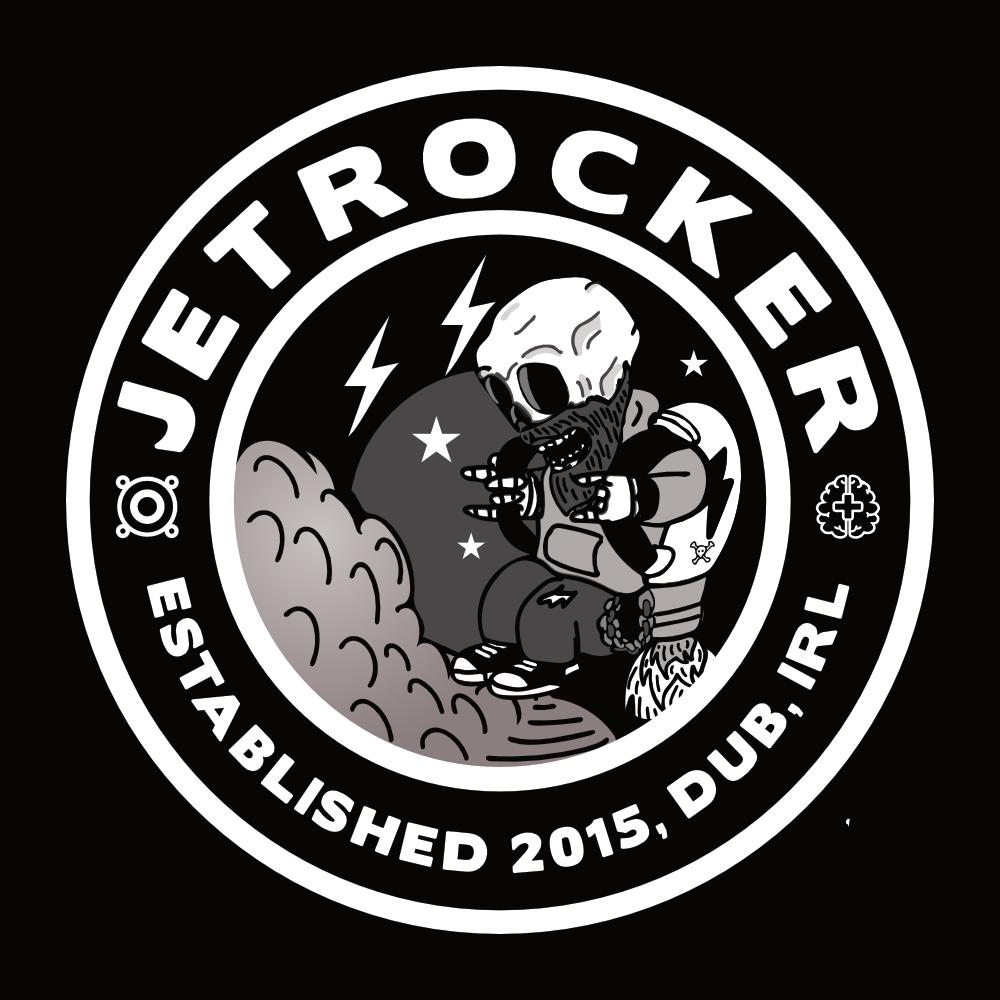 Jetrocker Logo White_ Black BG