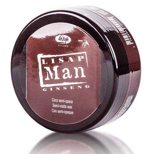 Матирующий воск для укладки волос для мужчин - Lisap Man Semi-Matte Wax 100 мл