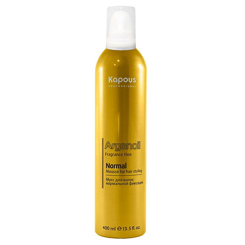 Мусс для укладки волос нормальной фиксации с маслом арганы.