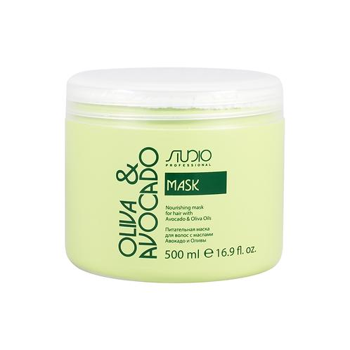 Питательная маска для волос с масломмаслами Авокадо и Оливы