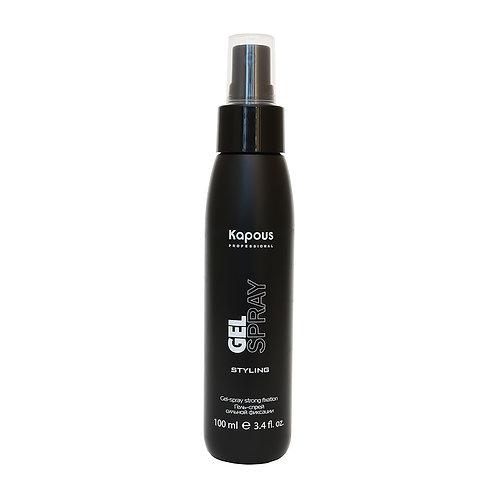 Гель-спрей для волос сильной фиксации.