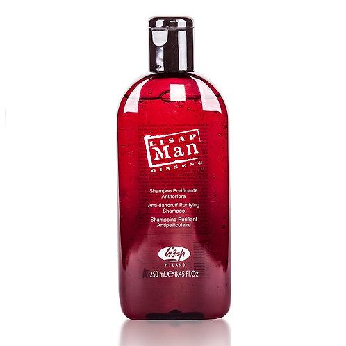 Шампунь для волос против перхоти для мужчин - Lisap Man Anti-Dandruff Purifying