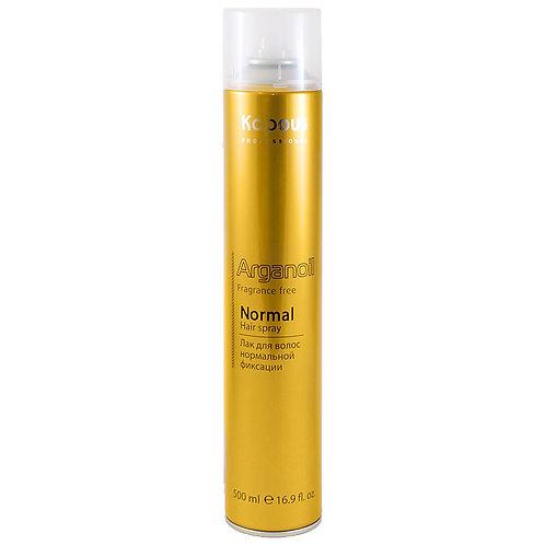 Лак аэрозольный для волос нормальной фиксации с маслом арганы 500мл.
