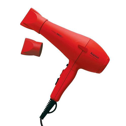 """Профессиональный фен """"Turbo 3800ST"""", красный."""