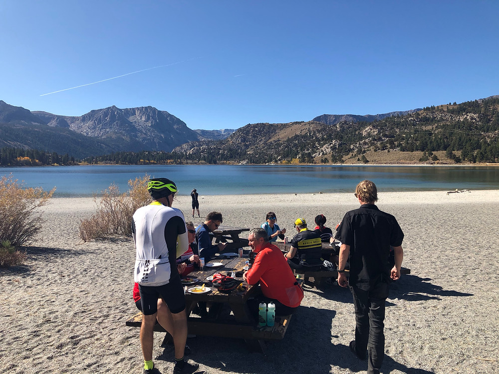 Lunch at June Lake.