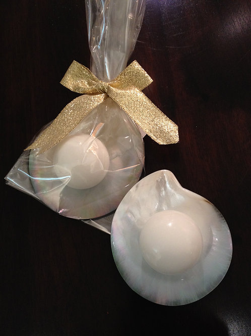 Sea Shell with Lavender Soap Pearl