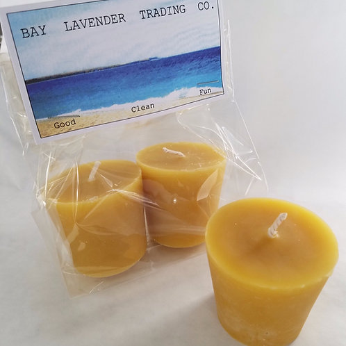 Bee's Wax votive refills are locally sourced and unscented