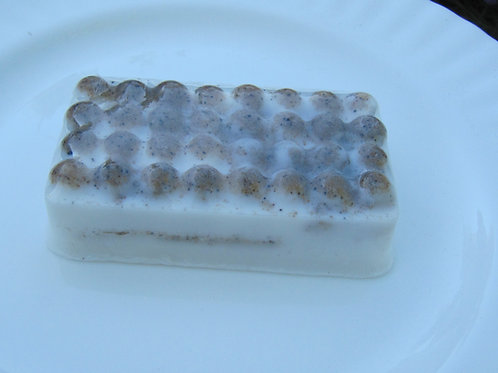 Peppermint Foot Scrub Bar Rectangle
