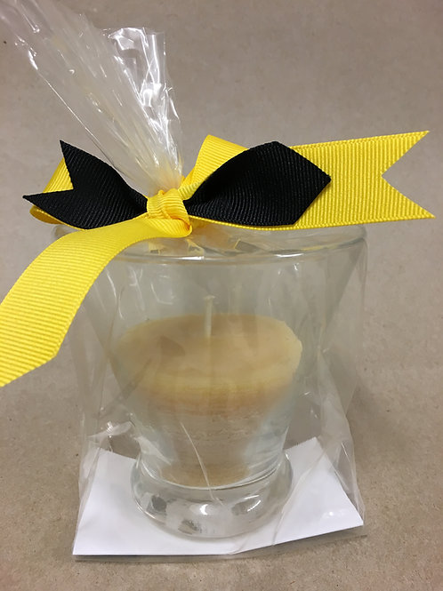 Bee's Wax Glass Votive Candle
