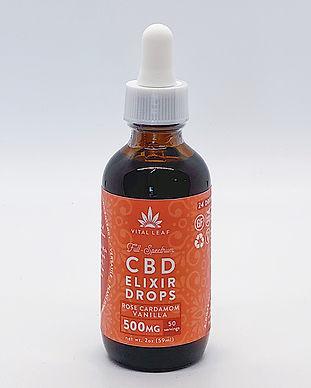Vital Leaf CBD Rose Cardamom Hemp Extract Full Spectrum 500mg