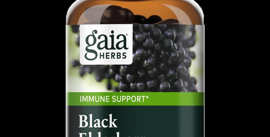 Gaia black elderberry 60 capsules