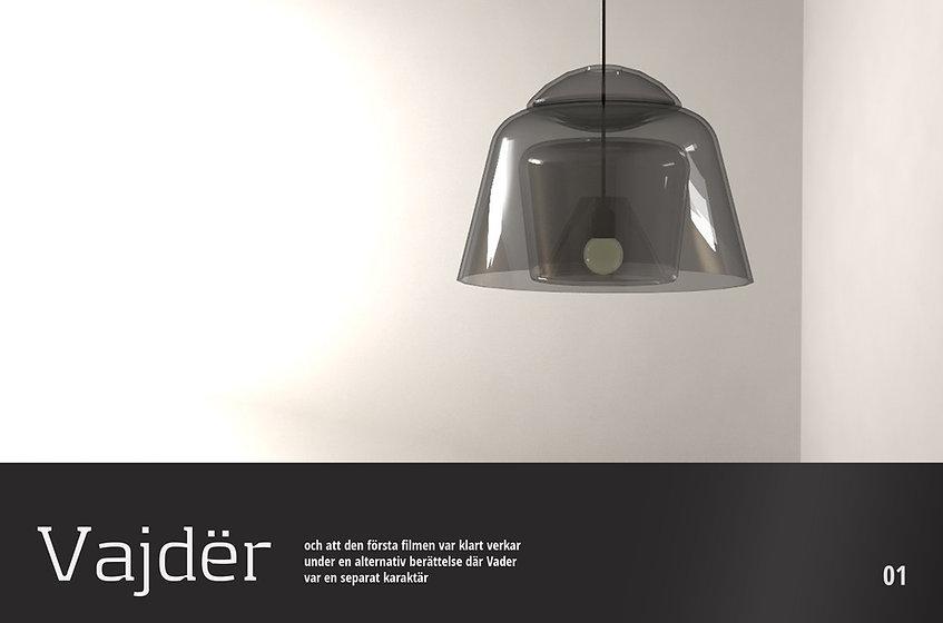 Darth vader character inspiration lamp