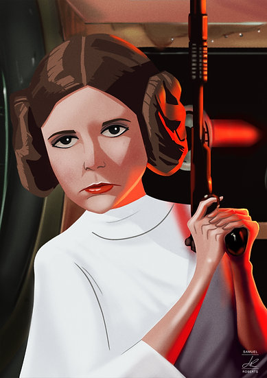 Princess Leia - Star Wars Gloss Poster Size A3 (297 x 420mm)