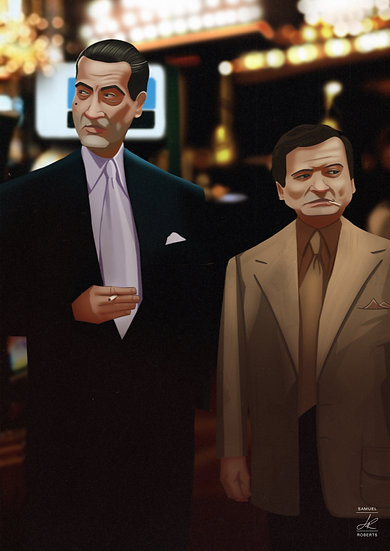 Sam Rothstein and Nicky Santoro - Casino Gloss Poster Size A3 (297 x 420mm)