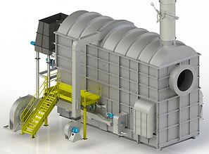 Fornalha Queima de Biomassa com Grelhas