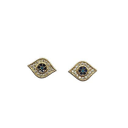 Mini Evil Eye Earrings Gold