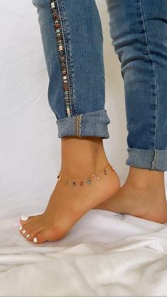 Arcoíris Drop Anklet