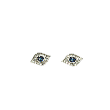 Mini Evil Eye Earrings Silver