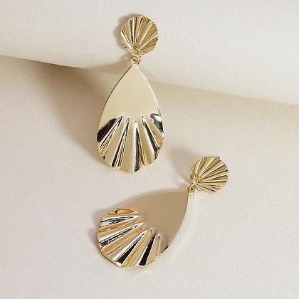 Golden Calico Earrings