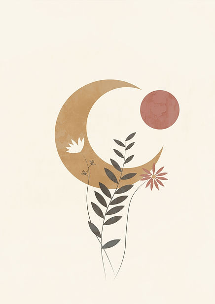 Bohemian abstract moon poster printable