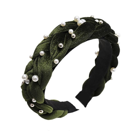 Olive Green Pearl Headband