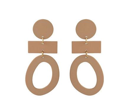 Taupe Ceramic Earrings