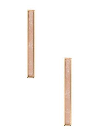 Dust Pink Bar Earrings