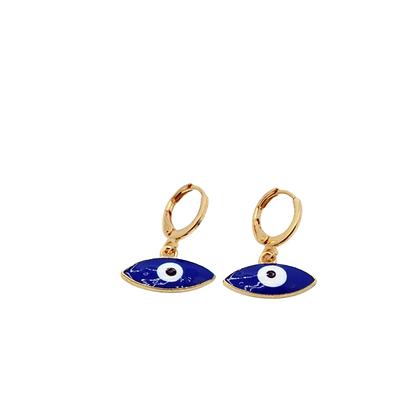 Blue Evil Eye Earrings