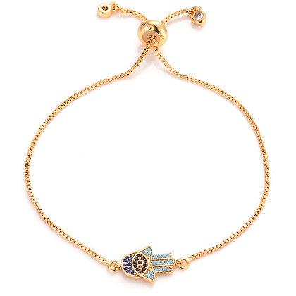 Gold Hamsa Hand Bracelet