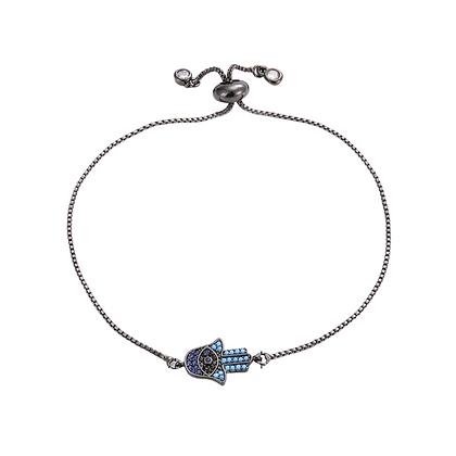 Black Hamsa Hand Bracelet