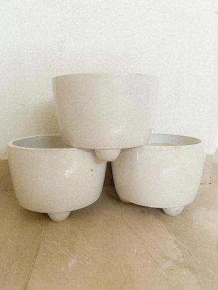 Rustic Ceramics Pot Ivory