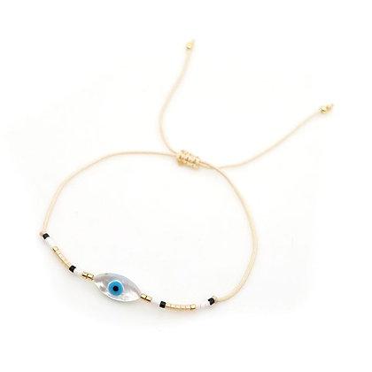 Nude Evil Eye Bracelet