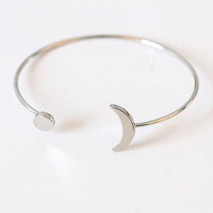 Silver Sol y Luna Cuff Bracelet