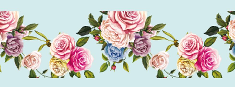 Roses on Lighblue