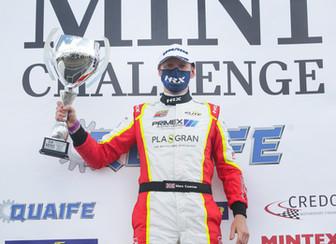 Coates wins on MINI CHALLENGE debut!