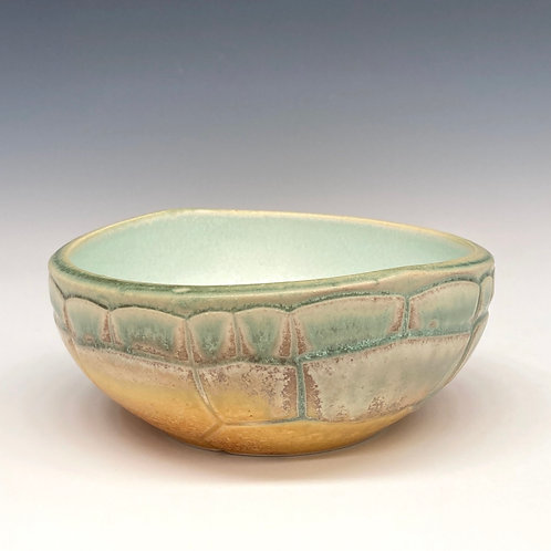 Turtle Bowl, Green and Gold