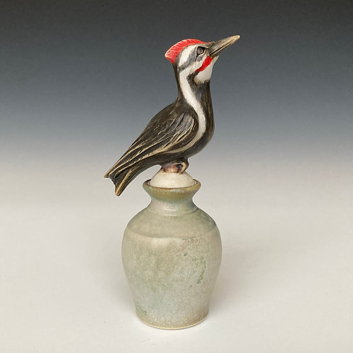Pileated Woodpecker Perfume Bottle