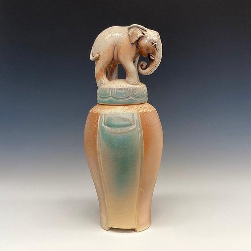 Asian Elephant Urn