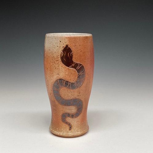 Garden Snake Tumbler #1 - Wood Fired