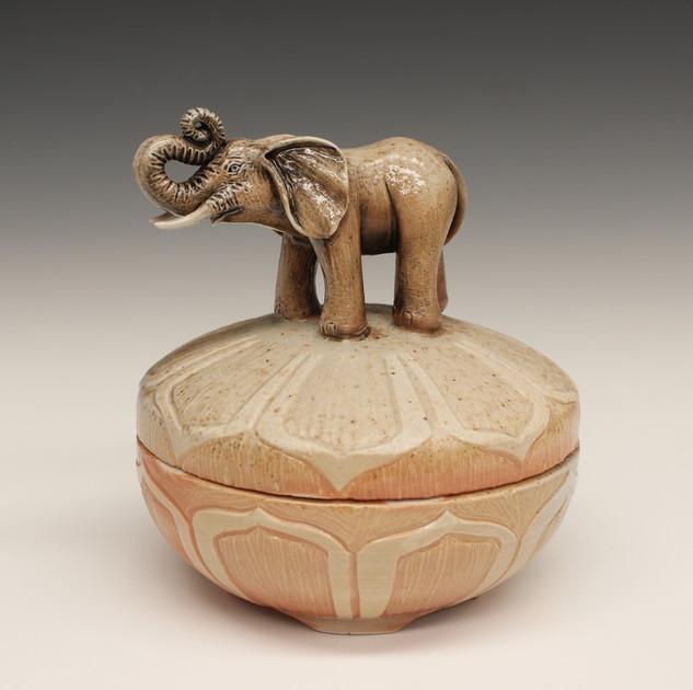 Elephant Trinket Jar