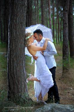 צילומי חוץ לחתונה עם תאורות מיוחדות