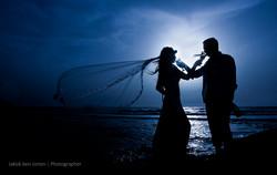 צילומי חוץ צלליות בחתונה