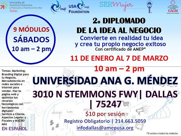 2o DIPLOMADO DE LA IDEA AL NEGOCIO GENER