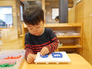 指先を使った遊び☺️ オレンジ組2歳児