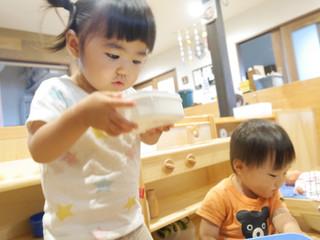 寒天遊びをしたよ✨ オレンジ組1歳児