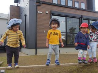 一本橋☺️✨ オレンジ組1歳児