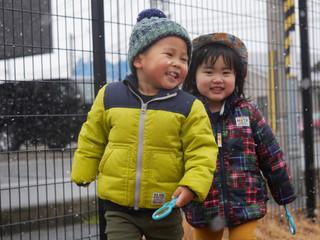 雪の日❄️☃️ オレンジ組2歳児