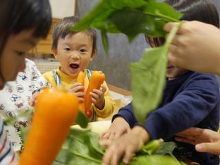 野菜☺️🥬 オレンジ組1歳児
